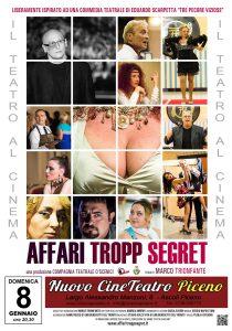 Il Film degli O'Scenici al Cinema Piceno l'8 gennaio 2017
