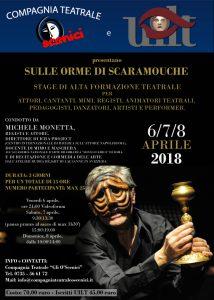 Aprile 2018 - O'Scenici e UILT presentano: Biomeccanica Commedia dell'Arte con Michele Monetta