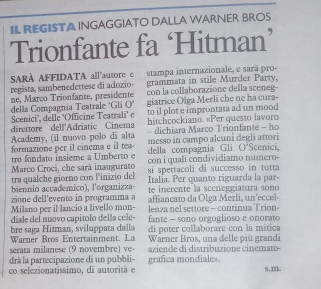 Hitman 2 a Milano per la Warner Bros